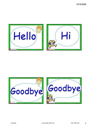 English for kidsesl kids dialogue flashcards hello dialogue flashcards hello m4hsunfo