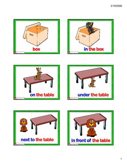 Toys Flashcards Clip Art