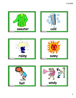 ESL Kids Flashcards Weather/clothes Flashcards