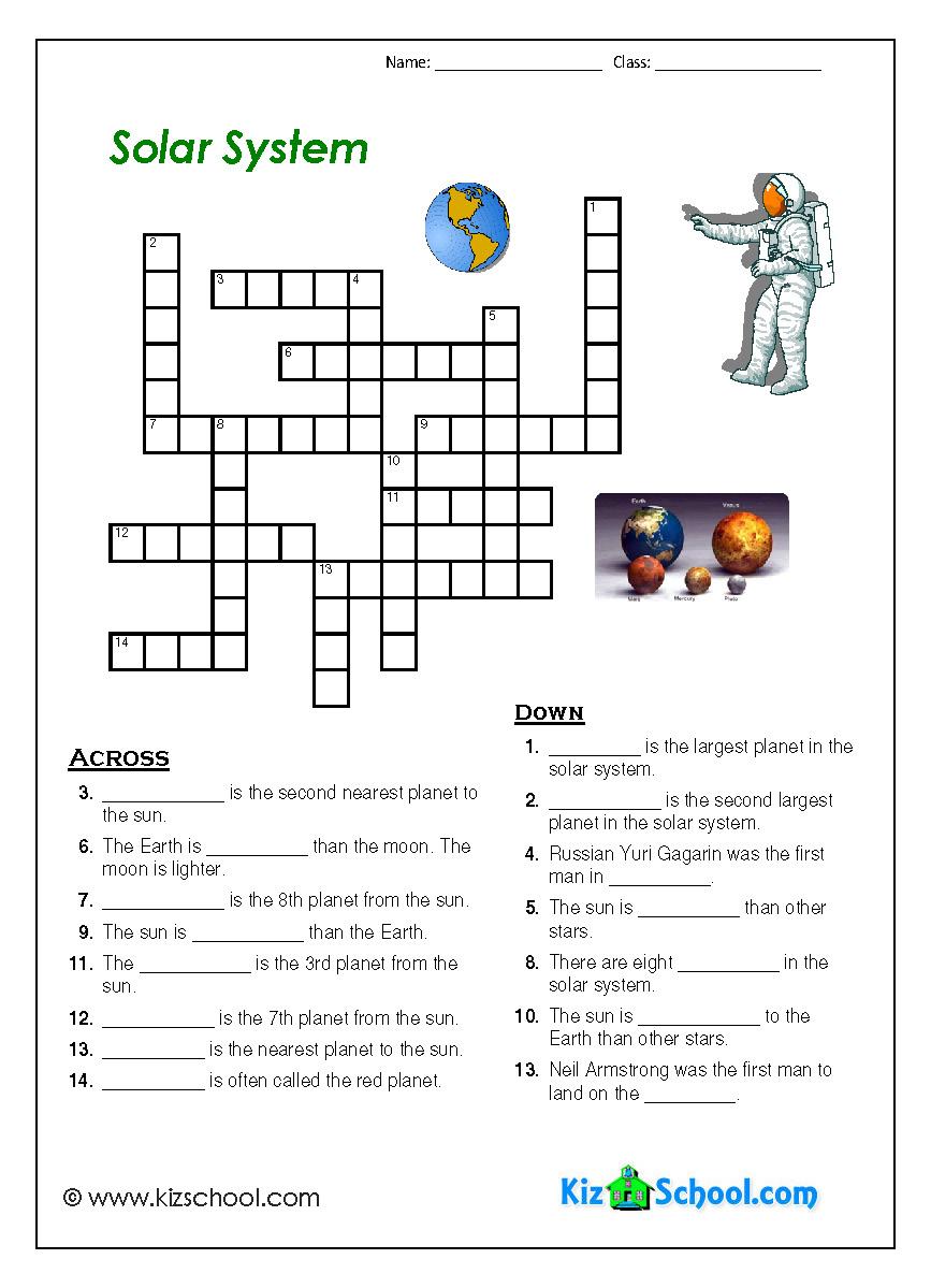 Solar System Worksheets For Kindergarten Astronomy In The