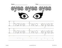 eye worksheets for preschoolers eye best free printable worksheets. Black Bedroom Furniture Sets. Home Design Ideas