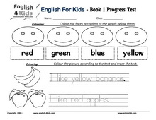 English for Kids, ESL Kids Exam Worksheets