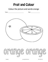 set 1 fruits colours worksheets - Colour Worksheets For Preschoolers