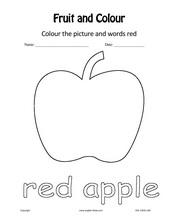 red apple worksheets for preschool red best free printable worksheets. Black Bedroom Furniture Sets. Home Design Ideas