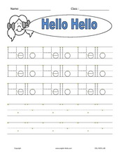English for kidsesl kids worksheets greetings hello asking name hello m4hsunfo