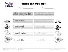 ESL Kids Worksheets Action Verbs Worksheets