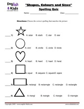 esl kids worksheets shapes colours worksheets. Black Bedroom Furniture Sets. Home Design Ideas