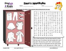 Image result for esl clothes worksheet | school things | Pinterest ...