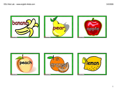 english for kids esl kids fruits flashcards. Black Bedroom Furniture Sets. Home Design Ideas
