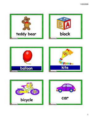 english for kidsesl flashcards toys vocabulary flashcards