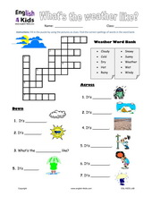 esl kids worksheet weather worksheets. Black Bedroom Furniture Sets. Home Design Ideas